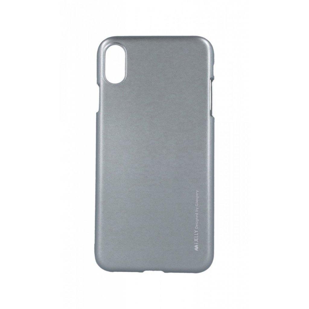 Zadný kryt Mercury iJelly Metal na iPhone XS Max sivý
