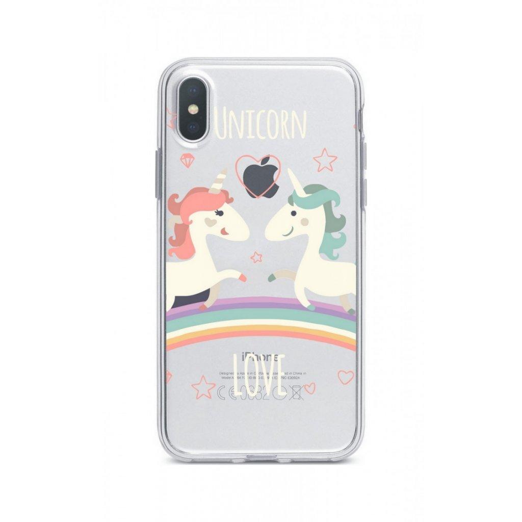 Zadný silikónový kryt na iPhone XS Max Unicorn Love
