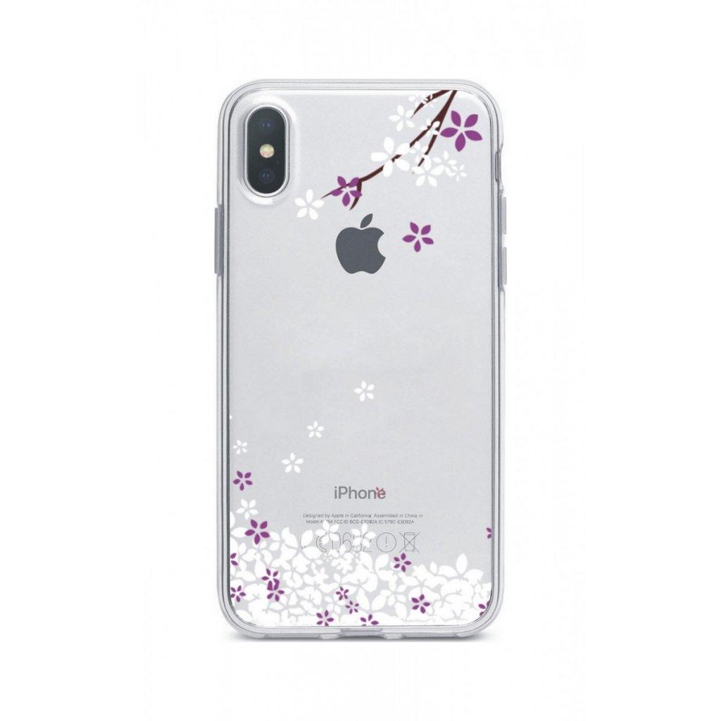 Zadný silikónový kryt na iPhone XS Max Kvety sakury