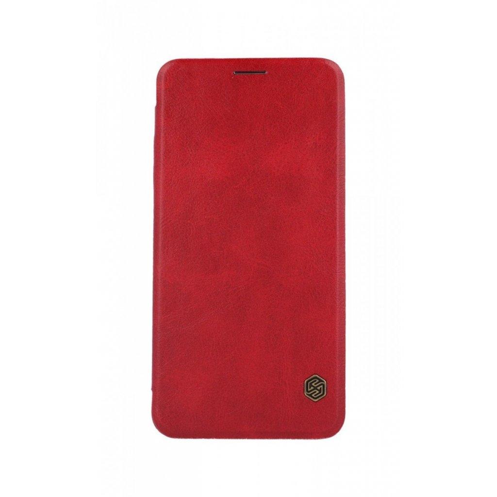 Flipové puzdro Nillkin Qin na iPhone XS Max kožené červené