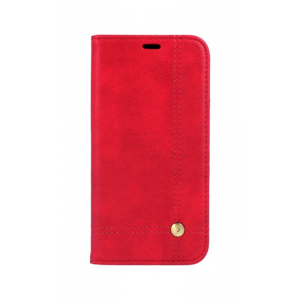 Flipové puzdro Prestige Book na iPhone XS červené