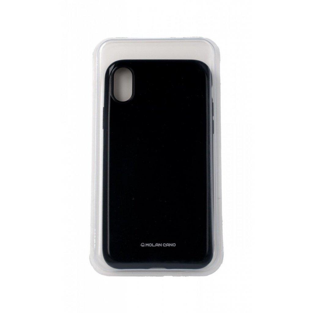 Zadný silikónový kryt Molan Cano Jelly na iPhone XR čierny