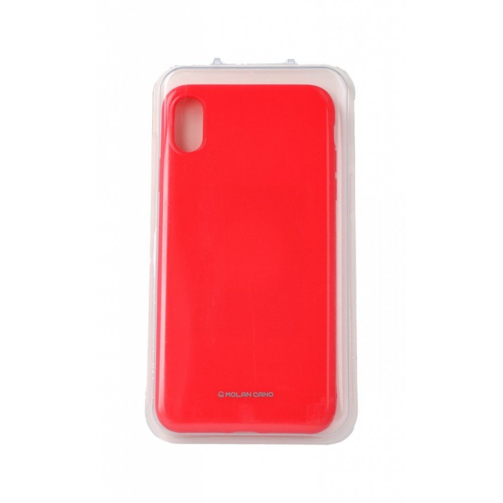 Zadný silikónový kryt Molan Cano Jelly na iPhone XS Max ružový