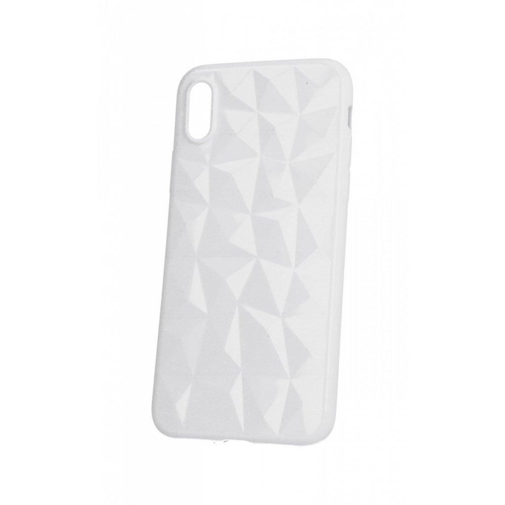 Zadný silikónový kryt Prism Jelly na iPhone X biely