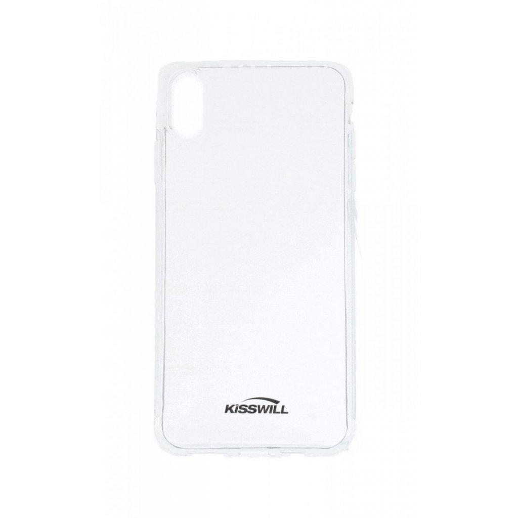 Zadný silikónový kryt Kisswill na iPhone XS Max priehľadný