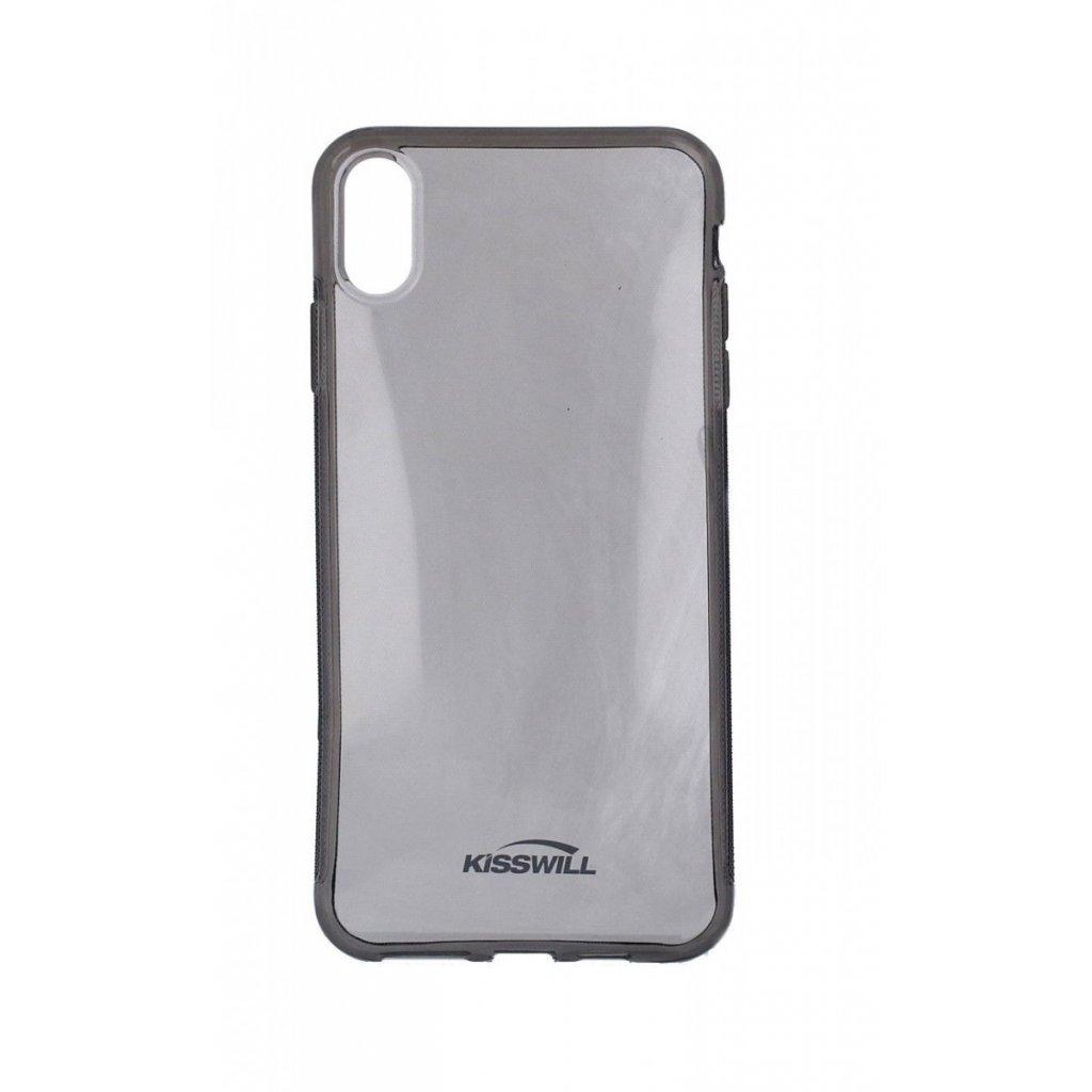 Zadný silikónový kryt Kisswill na iPhone XS Max tmavý