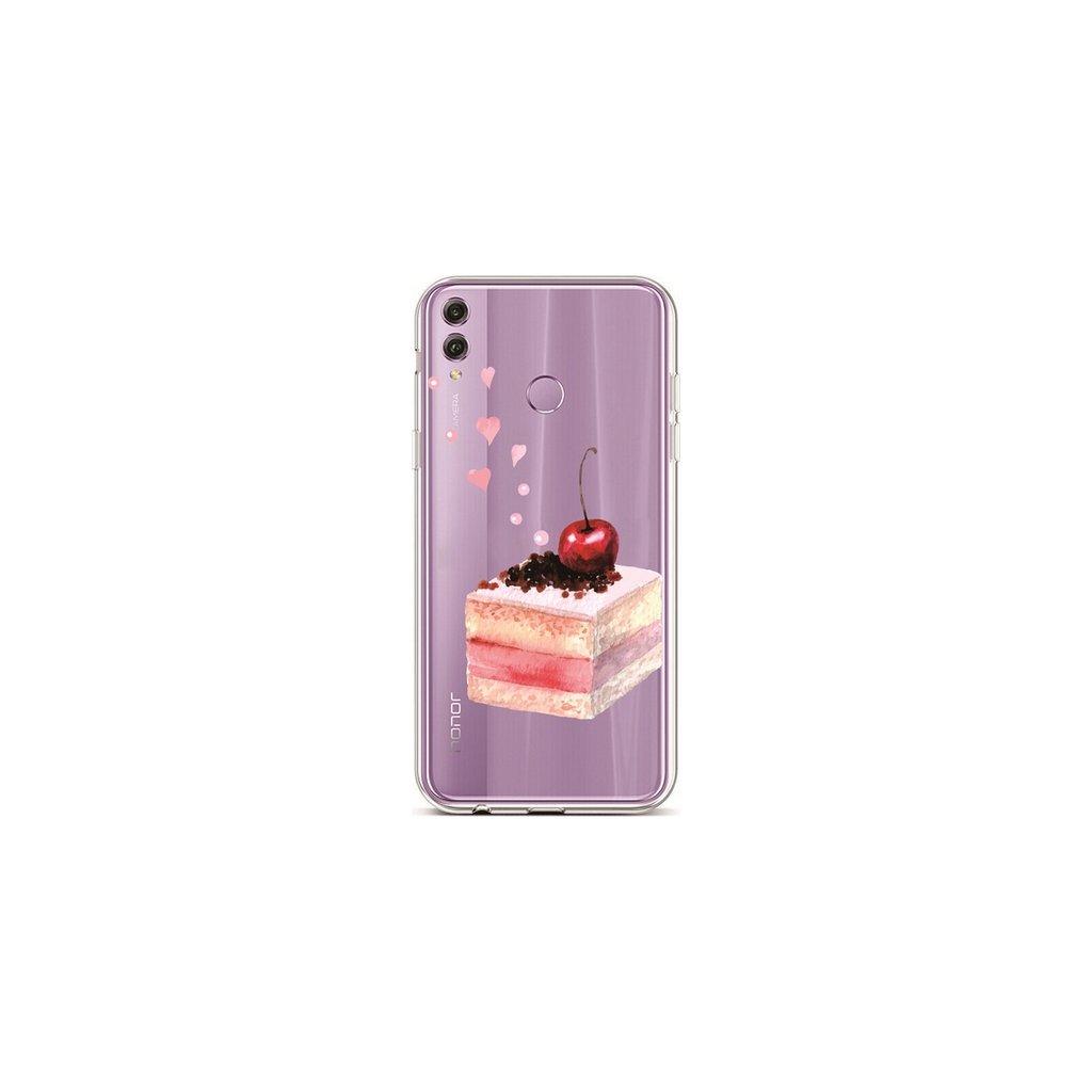 Zadný silikónový kryt na Honor 8X Cherry Cake