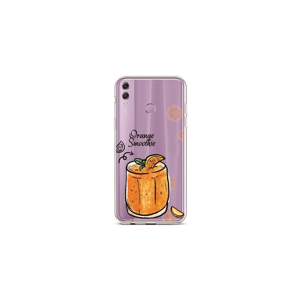 Zadný silikónový kryt na Honor 8X Orange Smoothie