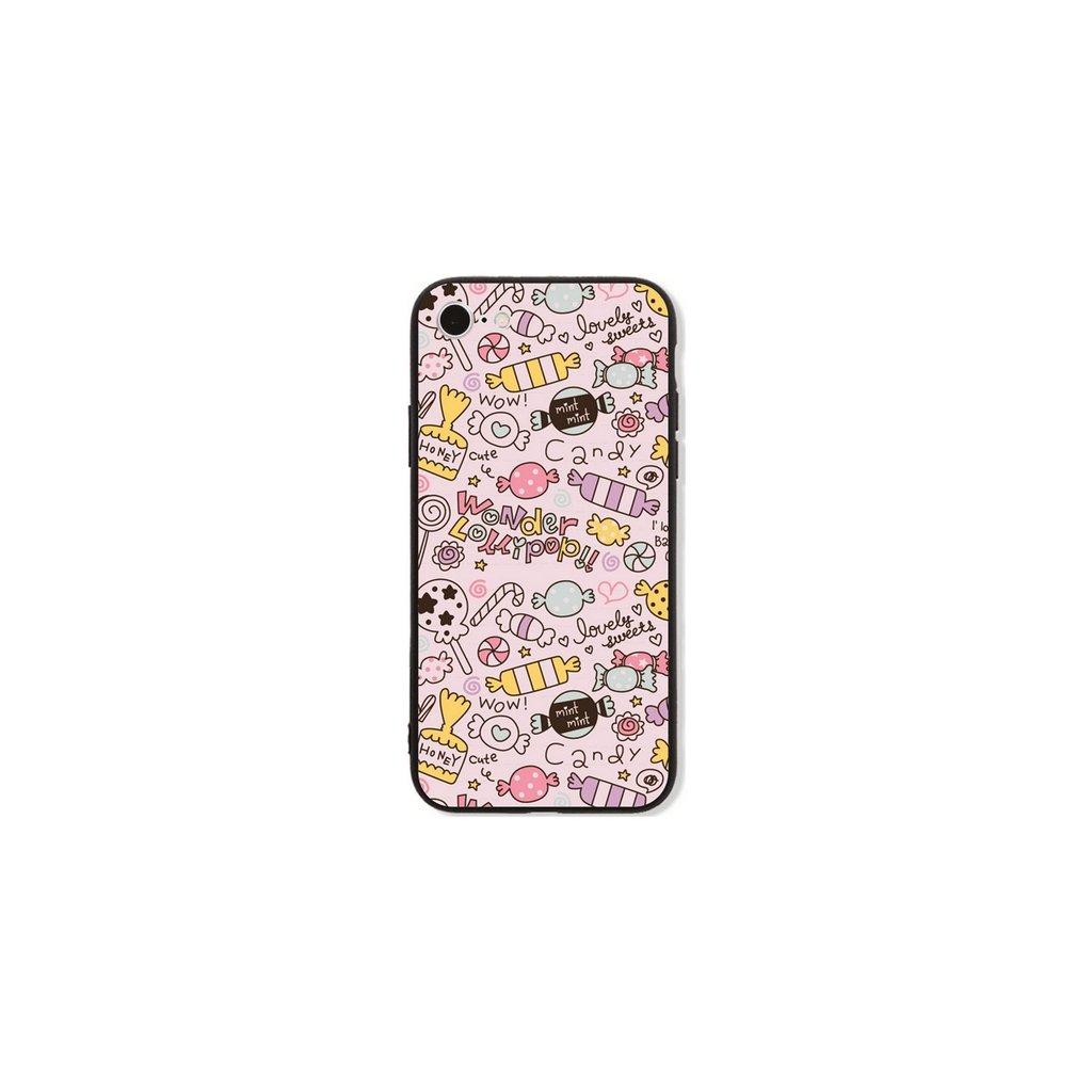 Zadný pevný kryt GLASS na iPhone 7 Candy