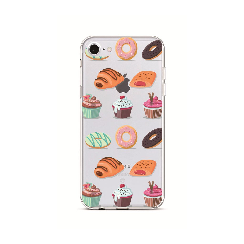Zadný silikónový kryt na iPhone 7 Bakery