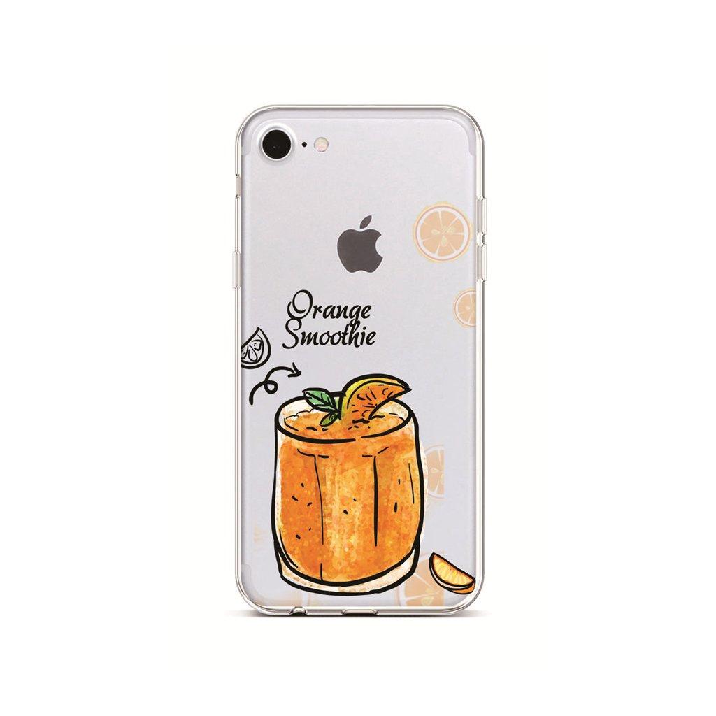 Zadný silikónový kryt na iPhone 7 Orange Smoothie