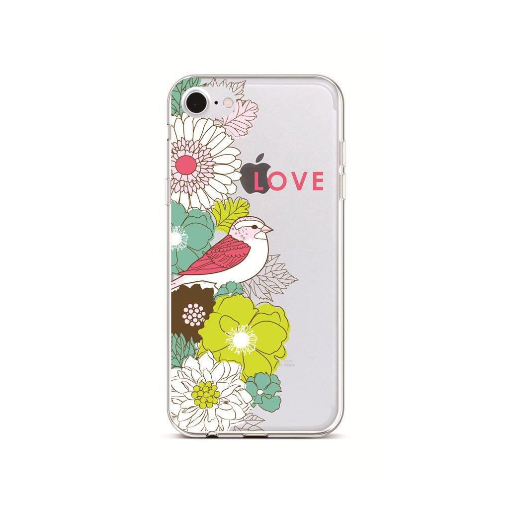 Zadný silikónový kryt na iPhone 7 Birdie Love