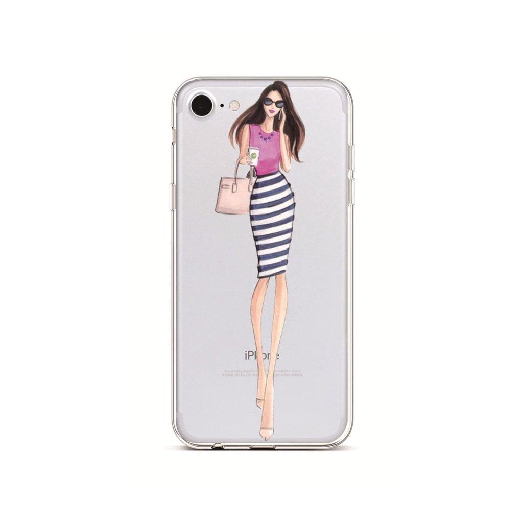Zadný silikónový kryt na iPhone 7 Lady 3