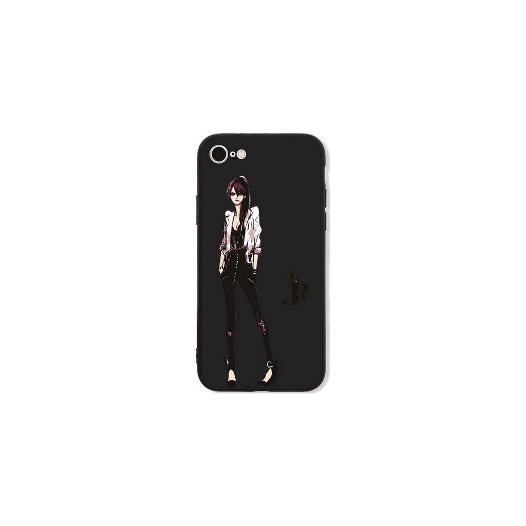 Zadný pevný kryt GLASS na iPhone 7 Fashion Girl