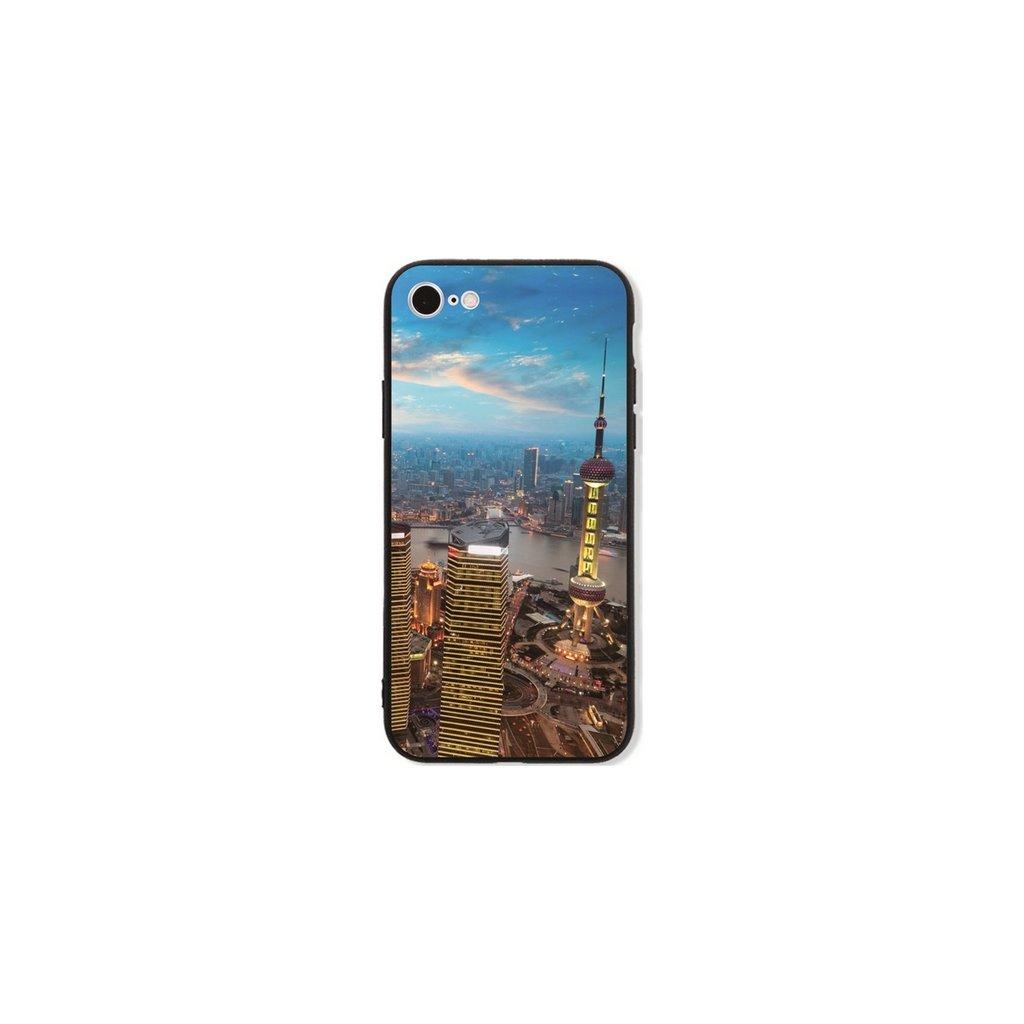 Zadný pevný kryt GLASS na iPhone 7 City