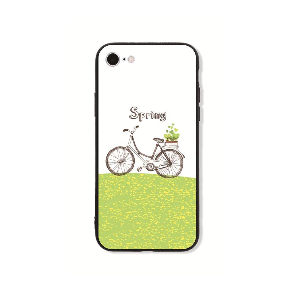 Zadný pevný kryt GLASS na iPhone 7 Bicycle