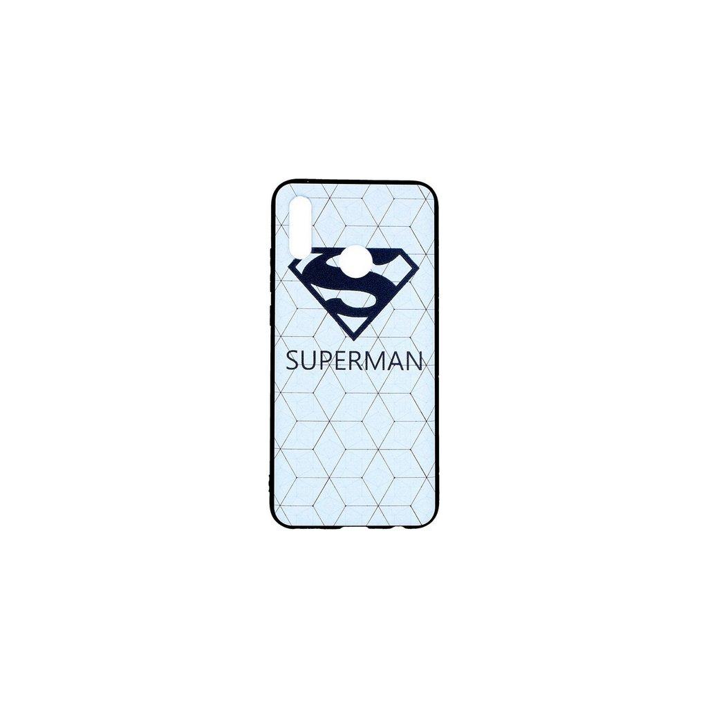 Zadný 3D silikónový kryt na Honor 10 Lite Biely Superman