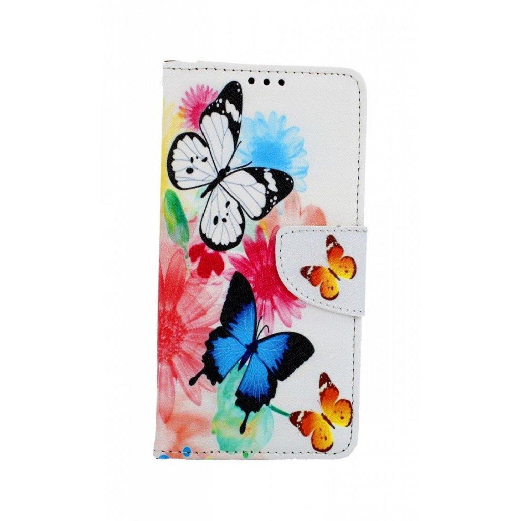 Flipové puzdro na Honor 20 Farebné s motýlikmi