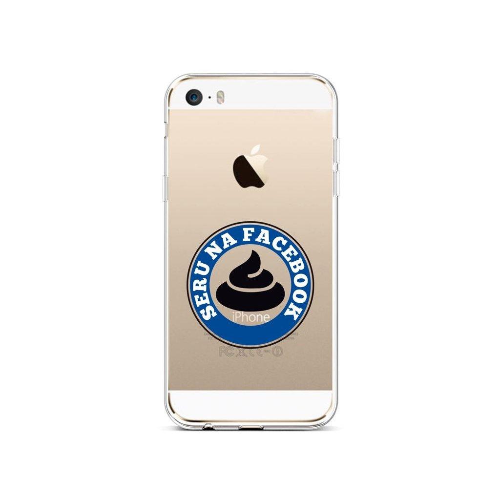 Zadný silikónový kryt na iPhone 5 - 5S - SE Facebook