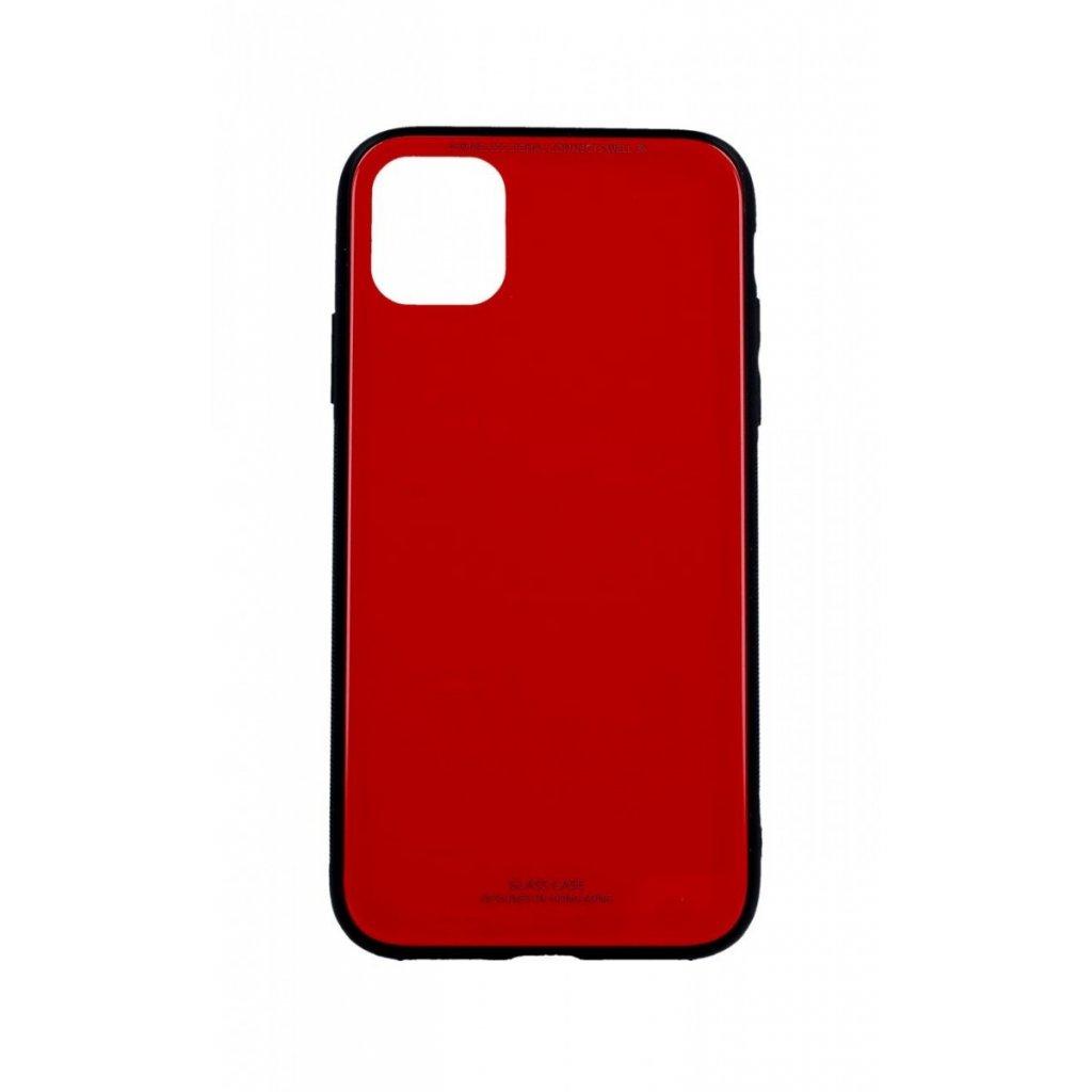 Zadný pevný kryt LUXURY na iPhone 11 červený