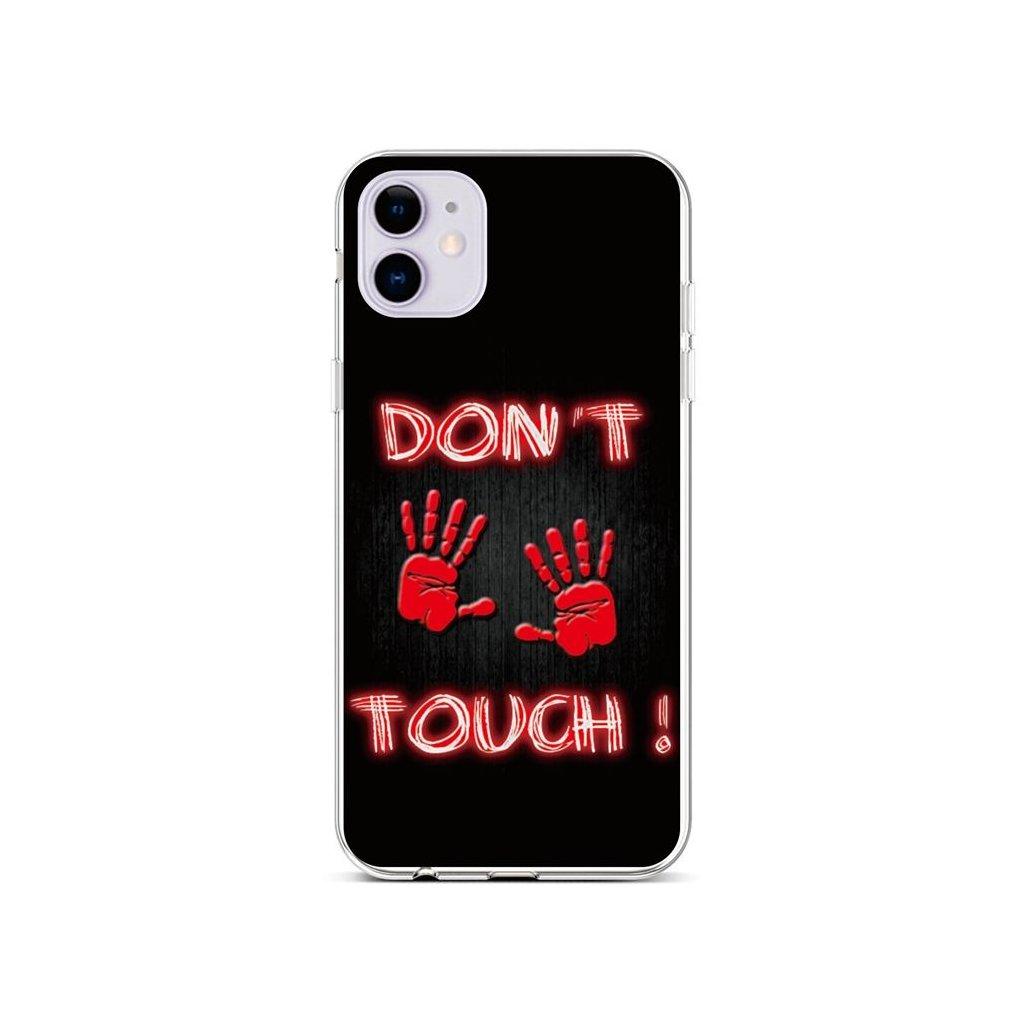 Zadný silikónový kryt na iPhone 11 Dont Touch Red