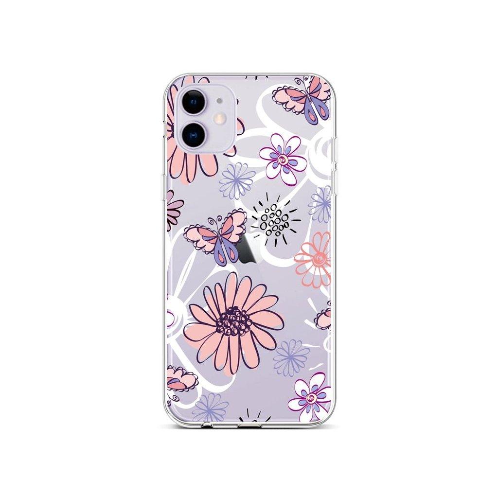 Zadný silikónový kryt na iPhone 11 Flowers