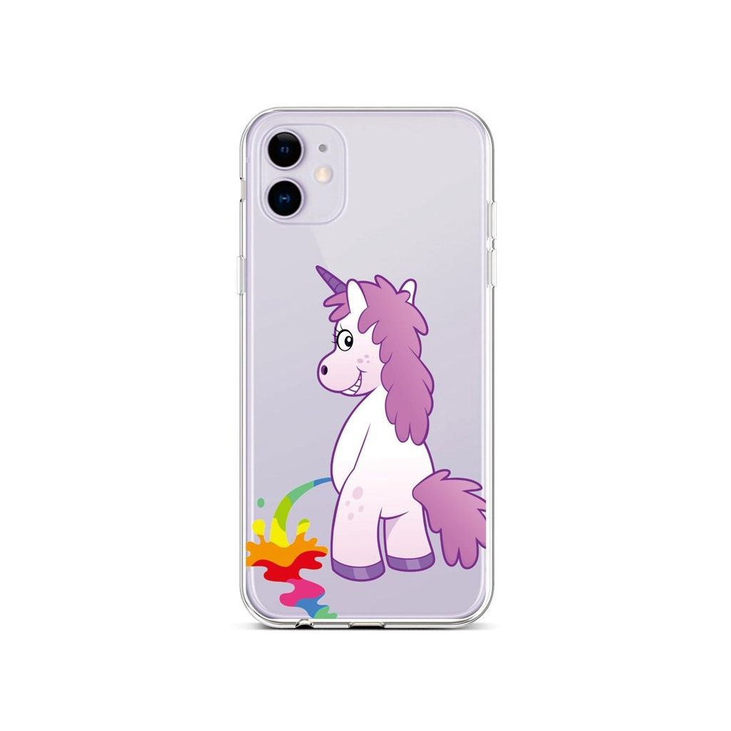 Zadný silikónový kryt na iPhone 11 Rude Unicorn
