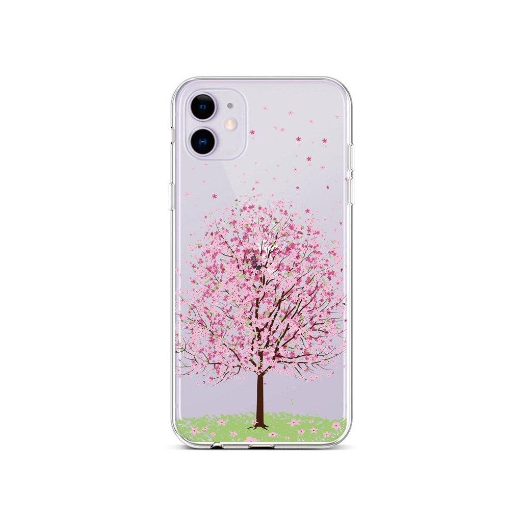 Zadný silikónový kryt na iPhone 11 Blossom Tree