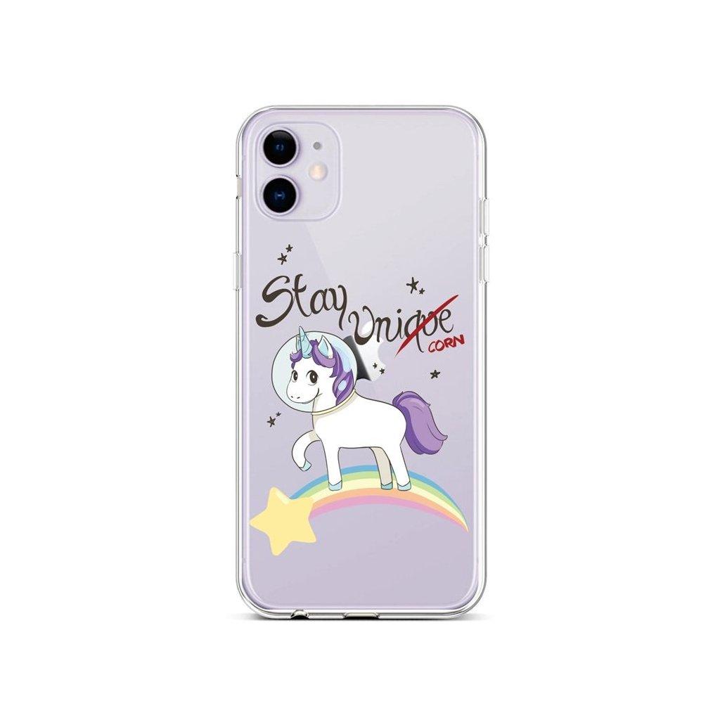 Zadný silikónový kryt na iPhone 11 Stay Unicorn