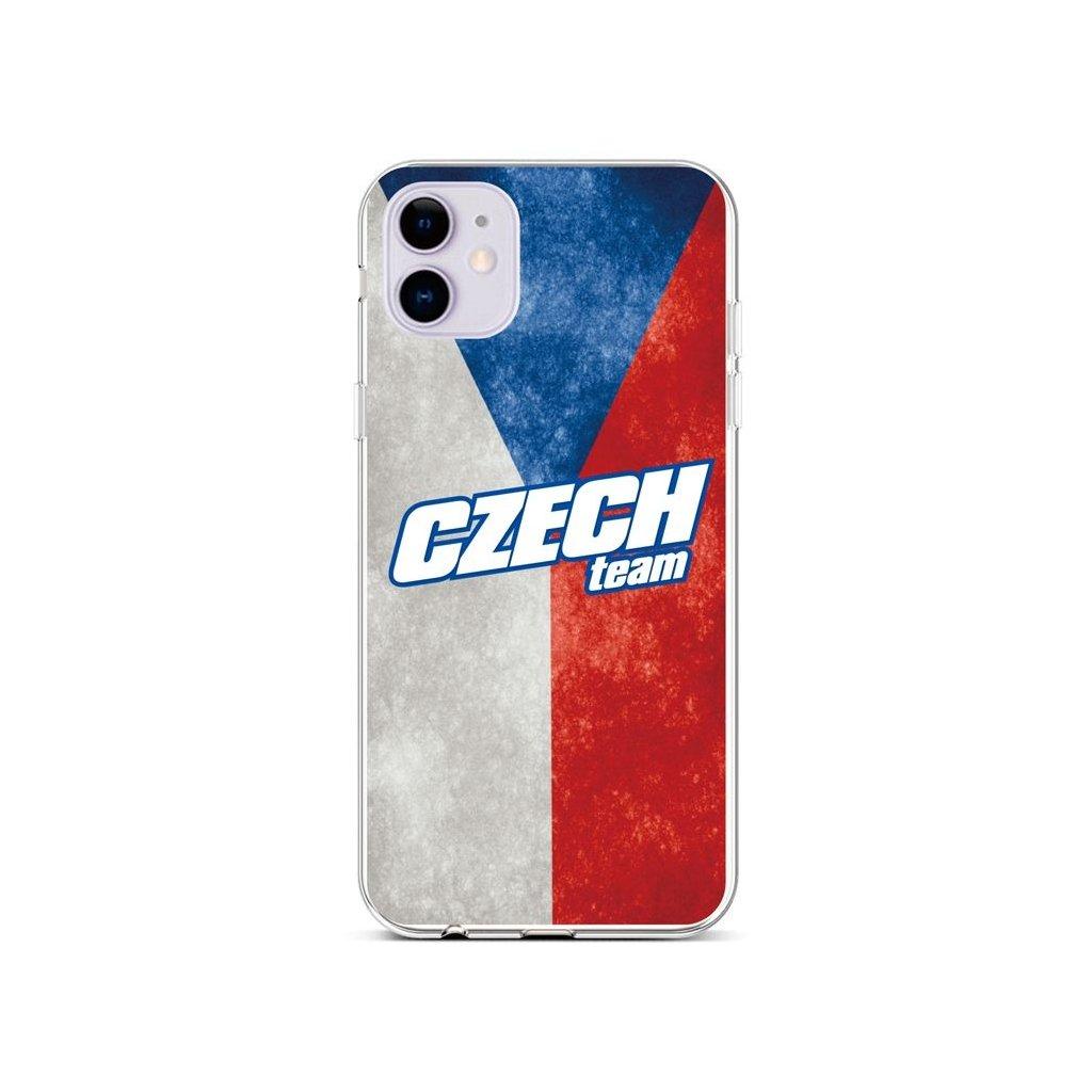Zadný silikónový kryt na iPhone 11 Czech Team