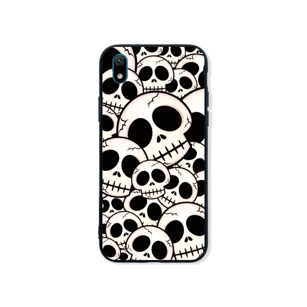 Zadný pevný kryt LUXURY na Huawei Y5 2019 Skulls