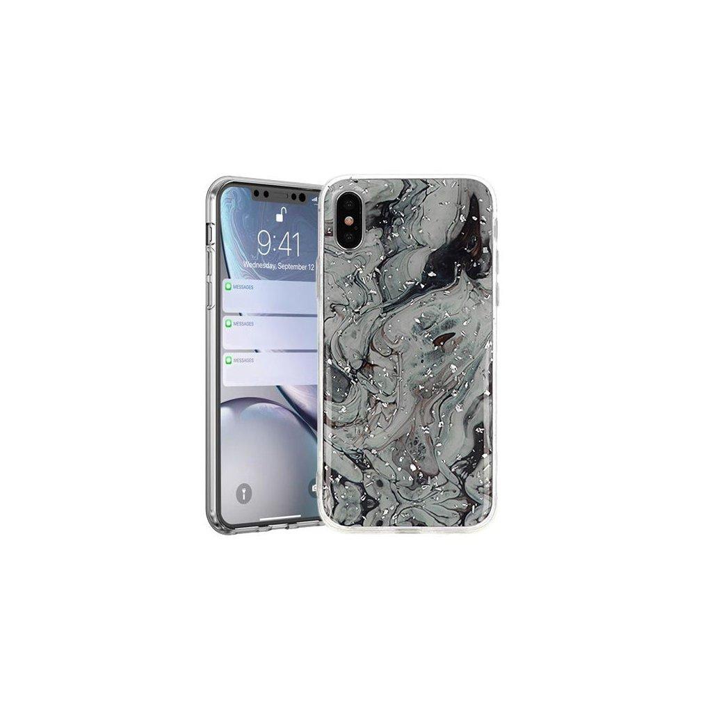 Zadný pevný kryt na Huawei Y5 2019 Marble Stone Grey