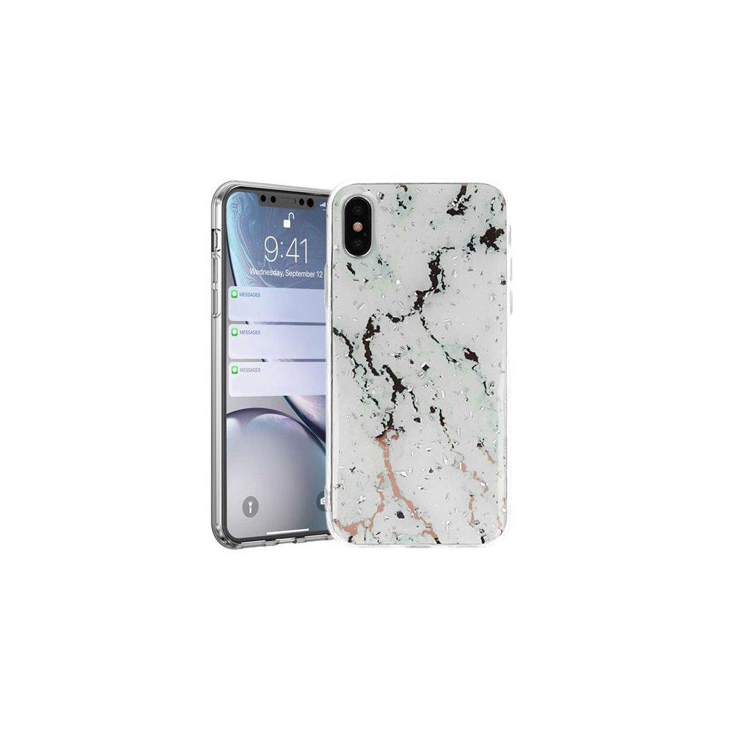 Zadný pevný kryt na Huawei Y5 2019 Marble Stone White