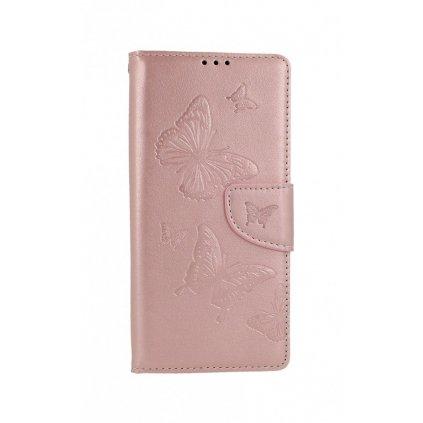 Flipové puzdro na Xiaomi Redmi 9A Butterfly ružové svetlé