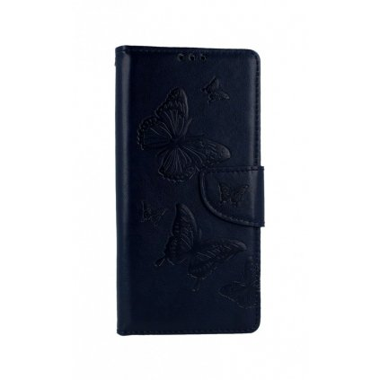 Flipové puzdro na Xiaomi Redmi 9 Butterfly modré tmavé
