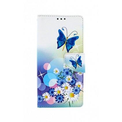 Flipové puzdro na Xiaomi Redmi 9 Biele s motýlikom