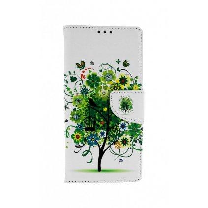 Flipové puzdro na Xiaomi Redmi Note 9 Biele so stromom