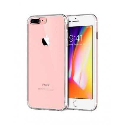 Ultratenký silikónový kryt na iPhone 8 Plus 0,5 mm priehľadný