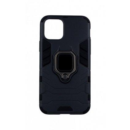 Ultra odolný zadný kryt na iPhone 11 Pro čierny s prsteňom