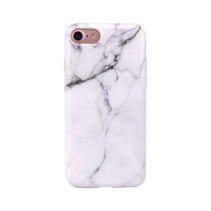 Zadný silikónový kryt na iPhone 8 Mramor biely