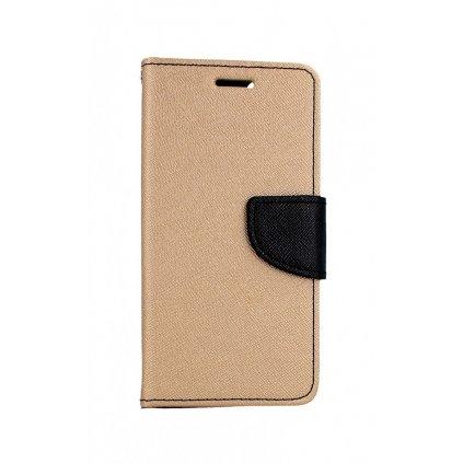 Flipové púzdro na iPhone SE 2020 zlaté