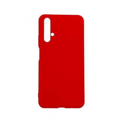 Zadný silikónový kryt na Huawei Nova 5T Velvet červený