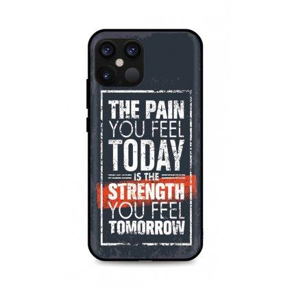 Zadný silikónový kryt DARK na iPhone 12 Strength