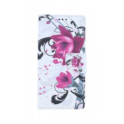 Flipové púzdro na iPhone SE 2020 Kvetinová kresba