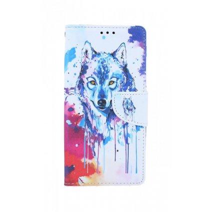 Flipové púzdro na iPhone SE 2020 Kresba vlka