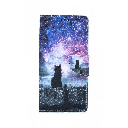 Flipové púzdro na Samsung A21s Hviezdna obloha