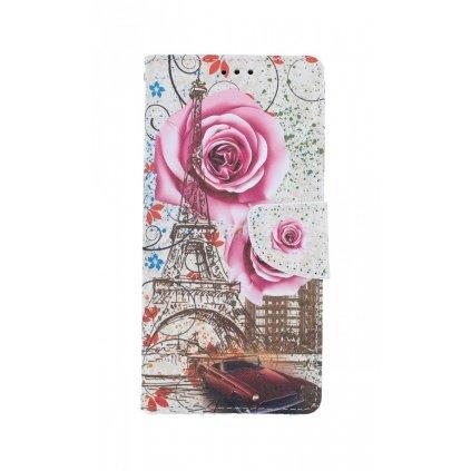 Flipové púzdro na Samsung A21s Rozkvitnutá Paríž