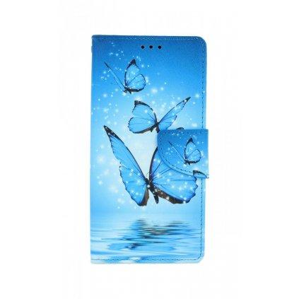 Flipové púzdro na Samsung A21s Modrí motýle