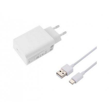 Originálna nabíjačka Xiaomi MDY-10-EF + USB-C (Type-C) dátový kábel biela 3A