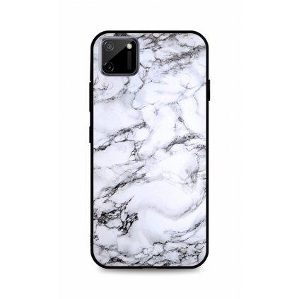 Zadný pevný kryt LUXURY na Realme C11 Marble White